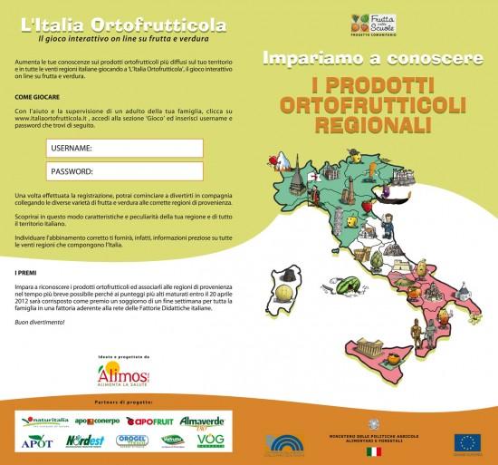 Alimos - I prodotti ortofrutticoli regionali folder front