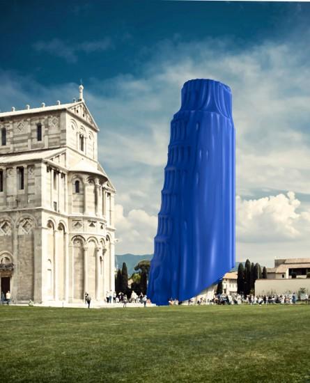 Covered Pisa tower (Torre di Pisa coperta)