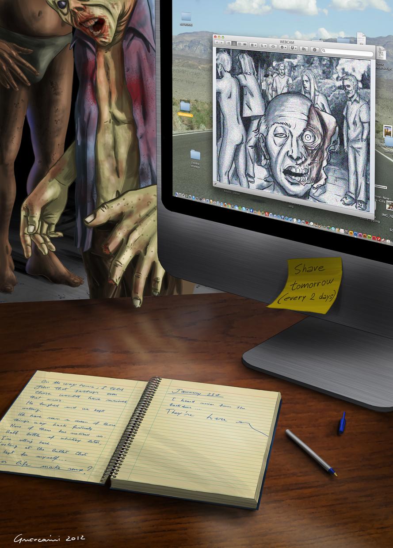 Proposta di cover per il primo volume di Diario di un sopravvissuto agli zombie