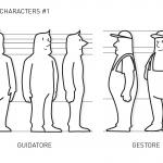 Unione Petrolifera Characters study 1