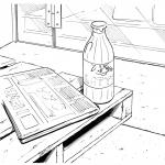 latte e giornale