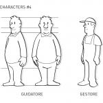 Unione Petrolifera Characters study 4