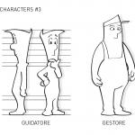 Unione Petrolifera Characters study 3
