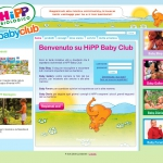 Hipp Baby Club website