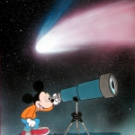 Topolino e la cometa (Mickey Mouse and comet).