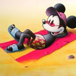 Topolino in spiaggia (Mickey Mouse on the beach)