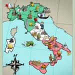 Italy map board